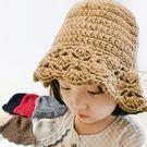 【童】鈎織扇形花邊針織帽/毛帽/漁夫帽/保暖帽 5色【E297465】