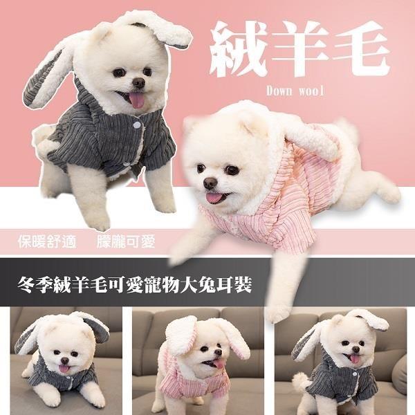 【南紡購物中心】【藻土屋】寵物保暖變身兔子裝