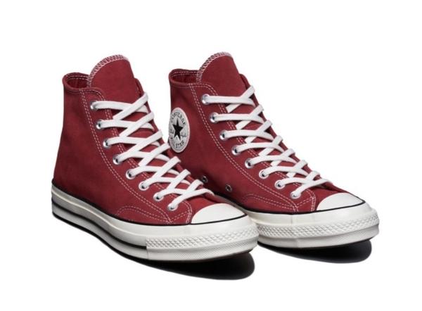 CONVERSE-Chuck 70 男女款酒紅高筒休閒鞋-NO.166493C