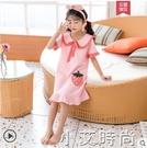 女童睡裙夏季純棉薄款短袖可愛母女公主風兒童睡衣寶寶女孩家居服 小艾新品