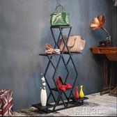展示櫃 鐵藝展示台包包架超夯復古服裝店鞋帽流水台櫥窗設計擺設置物櫃架  新品