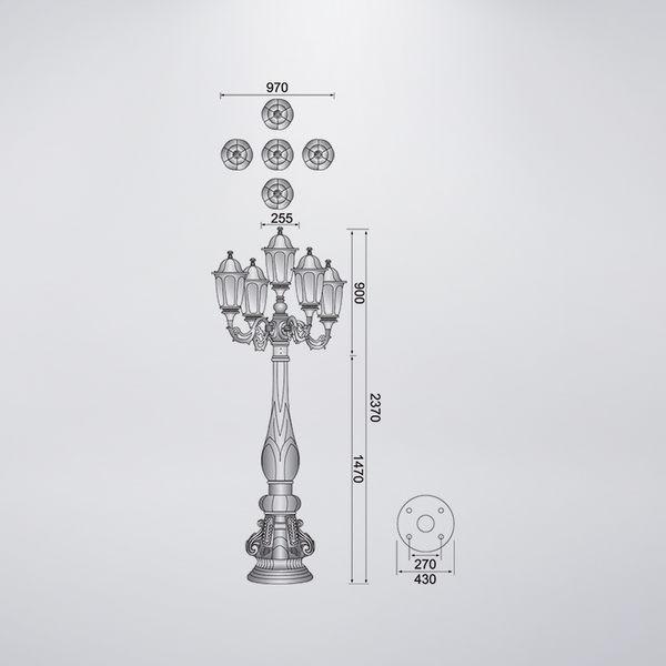 五燈獎戶外庭園燈 防水型 可客製化 可搭配LED