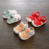 【618】好康鉅惠夏寶寶鞋女0-2歲包頭嬰兒涼鞋6-12月學步鞋