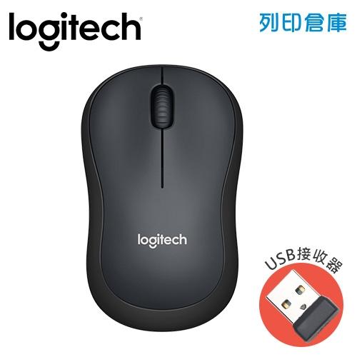 Logitech羅技 M221靜音滑鼠-黑色(USB接收器)