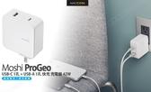 Moshi ProGeo USB-C 1孔 + USB-A 1孔 快充 充電器 42W 支援 Macbook Switch