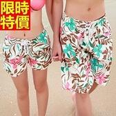 情侶款海灘褲(單件)-防水衝浪精美圖案隨興風格男女短褲66z37【時尚巴黎】