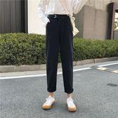牛仔褲 女裝韓版新款百搭寬鬆水洗顯瘦直筒九分褲學生高腰牛仔褲 伊韓時尚