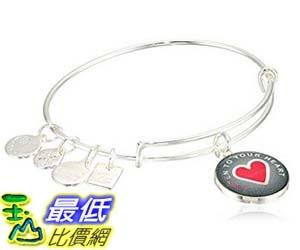 [美國直購] Alex and Ani Women s Charity By Design Listen to your Heart Bangle Shiny Silver One Size 手鐲