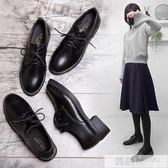 小皮鞋女春季2019新款韓版百搭學生原宿英倫風平底黑色單鞋女鞋子 韓慕精品