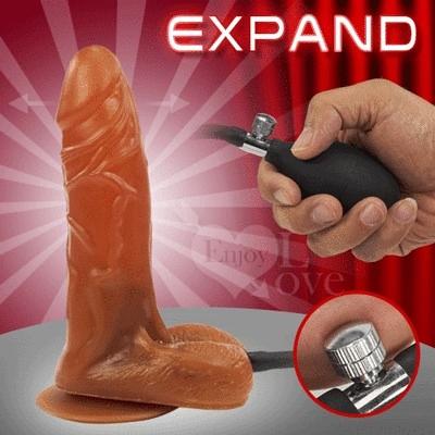Expand 充氣膨脹老二 - M號﹝變大+吸盤﹞棕色  貨號:590467