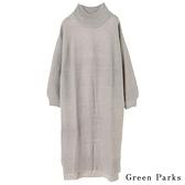 「Hot item」 素面高領針織洋裝 - Green Parks