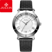 JULIUS 聚利時 華麗冒險立體鏡面設計腕錶-黑色/33mm 【JA-789A】