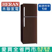 HERAN禾聯344L變頻雙門窄身冰箱HRE-B3581V含配送+安裝【愛買】