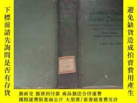 二手書博民逛書店罕見德英科學辭典(德文原版)Y223356 出版1959