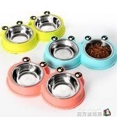 狗狗盆雙碗小大型犬寵物飯盆貓咪糧大號喂喝水食盆泰迪不銹鋼狗碗 igo魔方數碼館