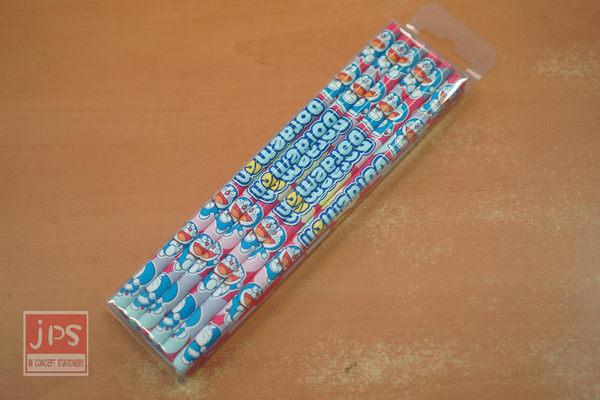哆啦A夢 12入 圓形木頭鉛筆 (桃紅底)