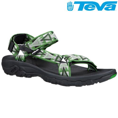 TEVA 熱銷經典織帶水陸機能運動涼鞋Hurricane XLT - 馬賽克綠