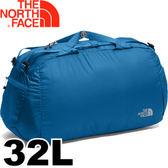 【The North Face Flyweight Duffel 32L 輕量多功能裝備袋〈藍/銀〉】CJ3A/手提袋/行李袋/裝備袋★滿額送