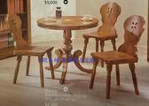 8號店鋪 森寶藝品傢俱 c-19品味生活餐廳  餐桌系列773-777砲管腳2.7尺全實木圓桌_西班牙色(不含椅)