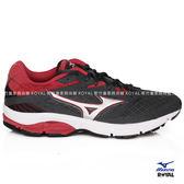 MIZUNO 新竹皇家 WAVE SURGE 灰色 紅標 網布 皮質 運動鞋 男款 NO.A9027