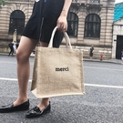 公文包 手提帆布包大容量女包韓版學生書包時尚麻布包簡約A4文件包公文包 曼慕衣櫃