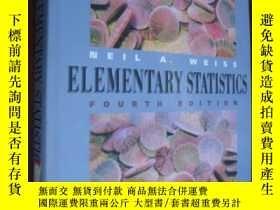 二手書博民逛書店Elementary罕見statistics 英文原版 附光盤Y