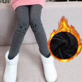 童裝女童打底褲加絨加厚保暖外穿棉褲潮LJ1658『miss洛羽』