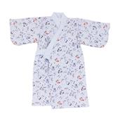 【愛的世界】純棉藍色溜冰鞋鋪棉日式和服-台灣製- ★幼服推薦