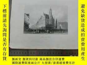 二手書博民逛書店【罕見】19世紀 銅 鋼版畫 單幅 HOTEL DI VILLE