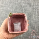 化妝包透明小號便攜迷你收納包雜物整理小包小方包【少女顏究院】