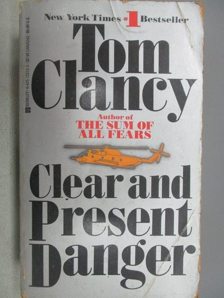 【書寶二手書T8/原文小說_MRX】Clear and Present Danger_Tom Clancy