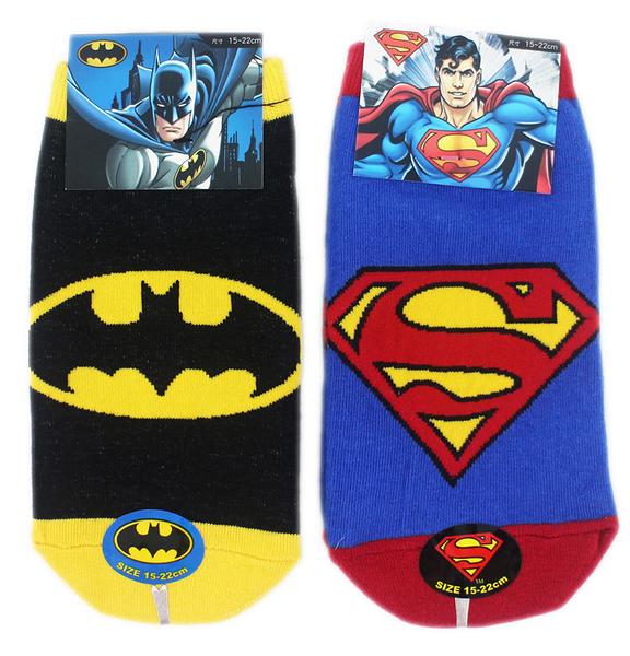 【卡漫城】 襪子 15-22cm 三雙組 直版襪 ㊣版 短襪 台灣製 超人 蝙蝠俠 Superman Batman