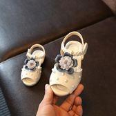 【全館】現折200女童涼鞋新款正韓童鞋夏季露趾0公主鞋1-5歲2花朵6學生4兒童3