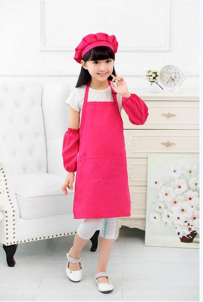 兒童烘培廚師圍裙 畫畫 表演服 可特製印字 diy LOGO 單圍裙價【藍星居家】