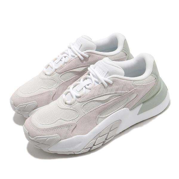 Puma 休閒鞋 Hedra Minimal Wns 米白 綠 奶綠 女鞋 老爹鞋 復古【ACS】 37511903