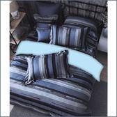 免運 精梳棉 雙人特大床罩5件組 百褶裙襬 台灣精製 ~品味時尚/藍~ i-Fine艾芳生活