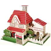 小屋手工拼裝自制別墅模型屋夢幻公主小房子建筑玩具女孩禮物  ys1470『寶貝兒童裝』