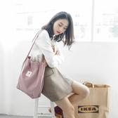 購物包帆布包女手提斜背包ins文藝小清新日韓版i擊學生大容量購物袋 聖誕節館