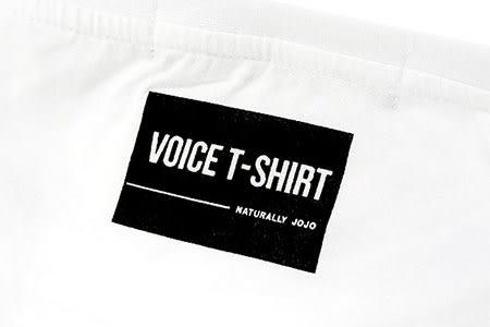 Black & White Voice T-shirt-保持下去(White)