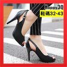 魚口鞋魚嘴鞋33大尺碼女鞋42高跟鞋41...