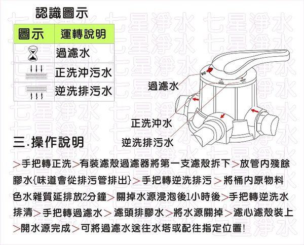 【巡航淨水】125公升手動逆洗控制活性炭過濾器.餐飲.淨水器.飲水機.RO純水機(貨號B1217)