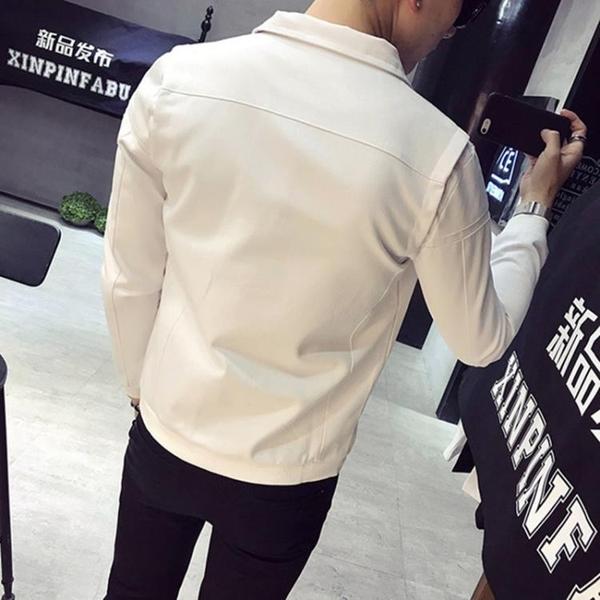 夾克 牛仔外套 韓版潮流修身帥氣外套