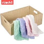 嬰兒手帕魯茜嬰兒口水巾洗臉巾純棉紗布手帕