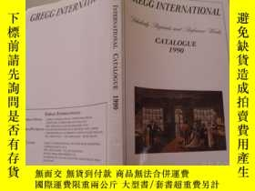 二手書博民逛書店GREGG罕見INTERNATIONAL CATALOGUE 1
