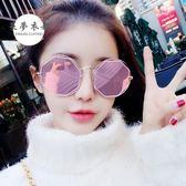 全館85折太陽眼鏡新款鏤空圓形墨鏡女潮眼睛款圓臉女士太陽鏡長臉眼鏡