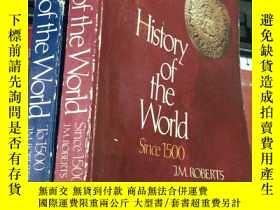二手書博民逛書店History罕見of the World Since 1500