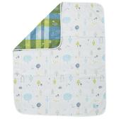 【奇哥】森林家族四層紗布被-粉藍(110×135cm)