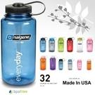 【速捷戶外】 NALGENE 2178-2024 彩色寬口水壺 (灰藍色), 1000cc, BPA-free,運動水壺,登山水壺