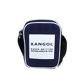 KANGOL 側背包 方包 帆布 深藍色 6125171080 noC79