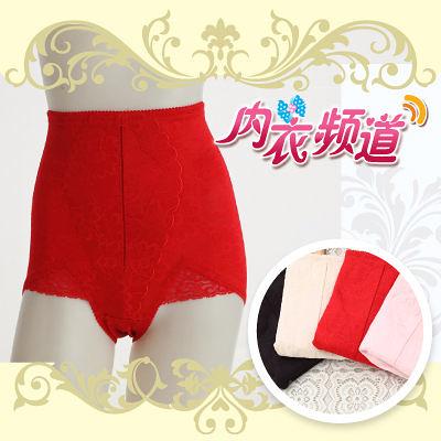 內衣頻道 A7626-台灣製.高腰緹花修飾束褲M~Q,3入組